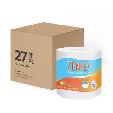 倩絲 - 四層純白壓花卷紙-白茶(原箱單卷裝) - 27'S
