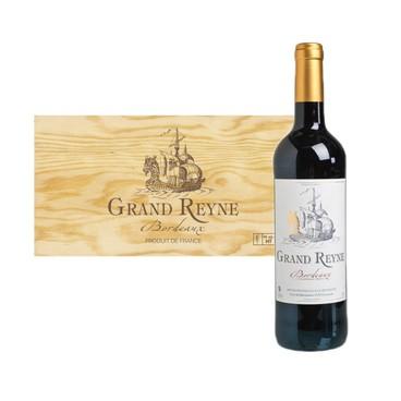 GRAND REYNE - Aoc Bordeaux Rouge case Wooden Case - 750MLX6