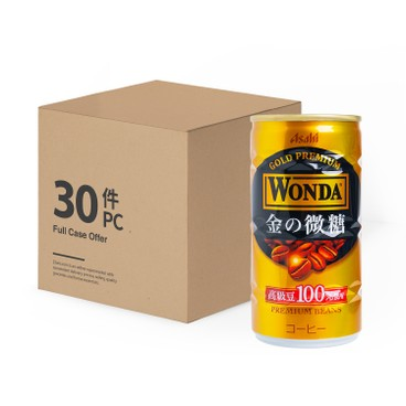 ASAHI - WONDA GOLD COFFEE(CASE SIZE) - 185GX30
