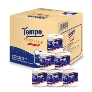 TEMPO - Prestige Printed Bathroom Tissue 4 Ply neutral Full Case Single Roll - 27'S