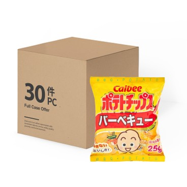 CALBEE - Potato Chips bbq Flavour - 25GX30