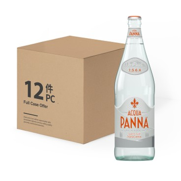 ACQUA PANNA - Still Natural Mineral Water bottle case - 1LX12
