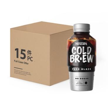 NESCAFE - COLD BREW COFFEE BEVERAGE-PURE BLACK-CASE OFFER - 280MLX15
