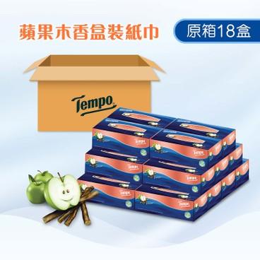 TEMPO - Box Facial Tissues Applewood full Case Single Box - 18'S