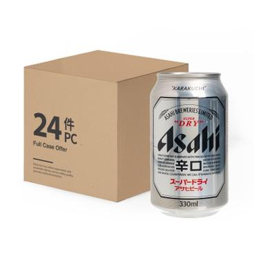 朝日 (平行進口) - 啤酒 - 原箱(罐) - 330MLX24