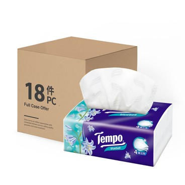 TEMPO - 4 ply Softpack Facial Tissue Bluebell - 18'S