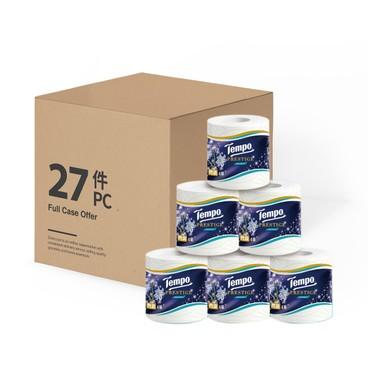 TEMPO - Prestige Printed Bathroom Tissue 4 Ply bluebell Full Case Single Roll - 27'S