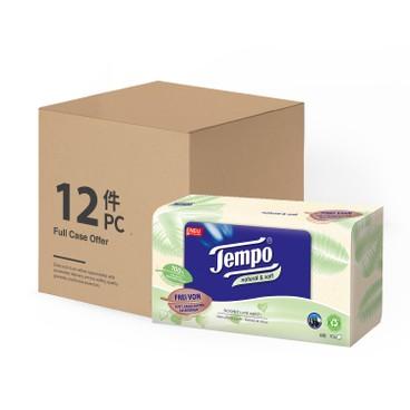 TEMPO - Facial Box Tissue Natural Soft Case - 12'S
