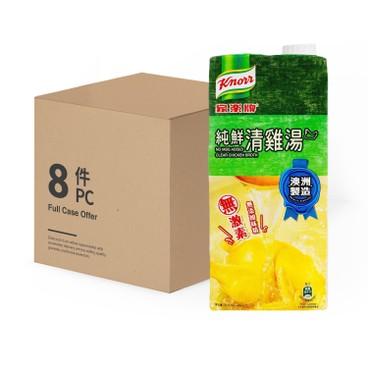 家樂牌 - 純鮮清雞湯 (不加味精)-原箱 - 1LX8