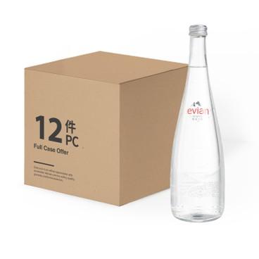 EVIAN 依雲(平行進口) - 天然礦泉水(玻璃樽)-原箱 - 750MLX12