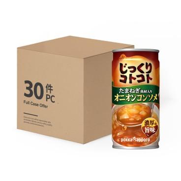 POKKA SAPPORO - 原箱即飲洋蔥雜菜濃湯 - 190GX30