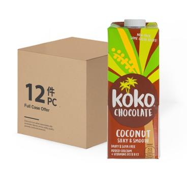 KOKO DAIRY FREE - 朱古力味椰子植物奶 - 1LX12