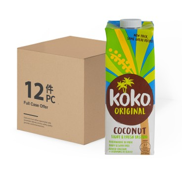 KOKO DAIRY FREE - ORIGINAL COCONUT MILK + CALCIUM - 1LX12