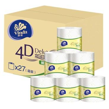 維達 - 4D DELUXE 4層立體壓花衛生紙-親膚抑菌 (原箱單卷裝) - 27'S