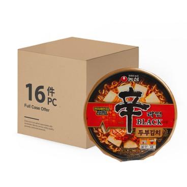 農心 - 碗麵-黑版辛辣麵(豆腐泡菜味) - 原箱 - 94GX16