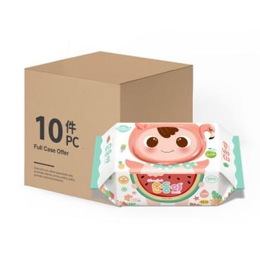 順順兒 - 無香嬰兒濕紙巾(香港特別版) - 原箱 - 100'SX10