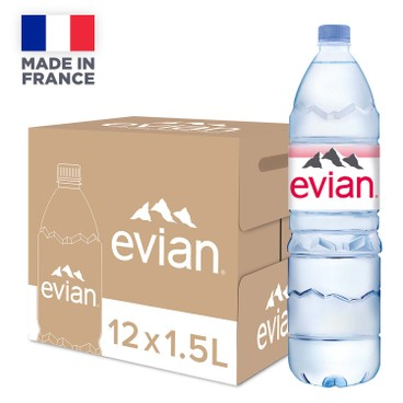 EVIAN - MINERAL WATER-CASE OFFER - 1.5LX12