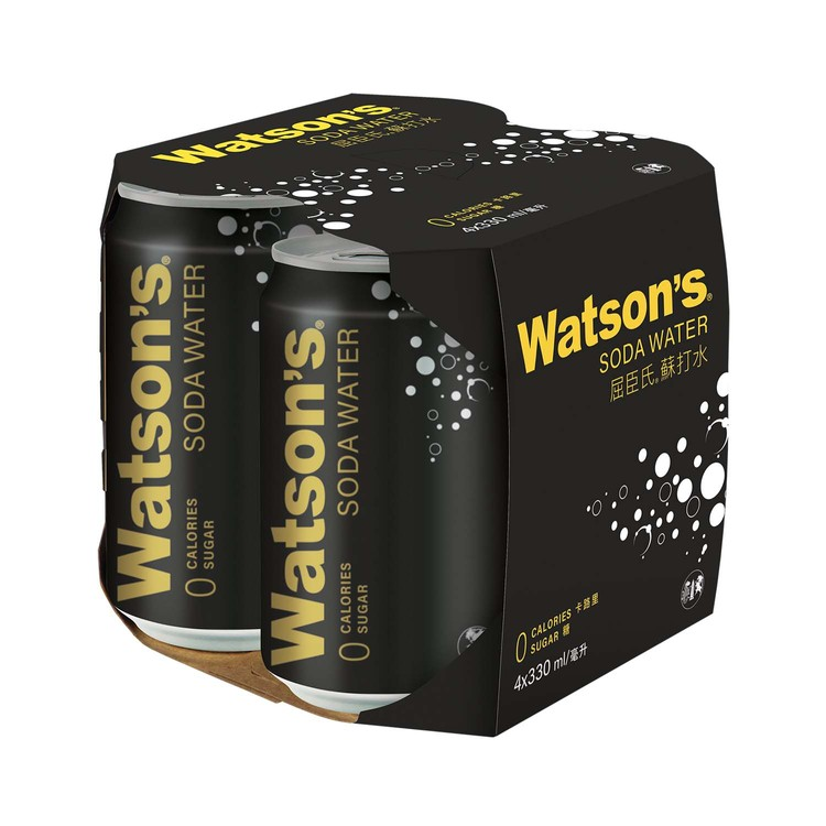 WATSONS - SODA WATER - 330MLX4