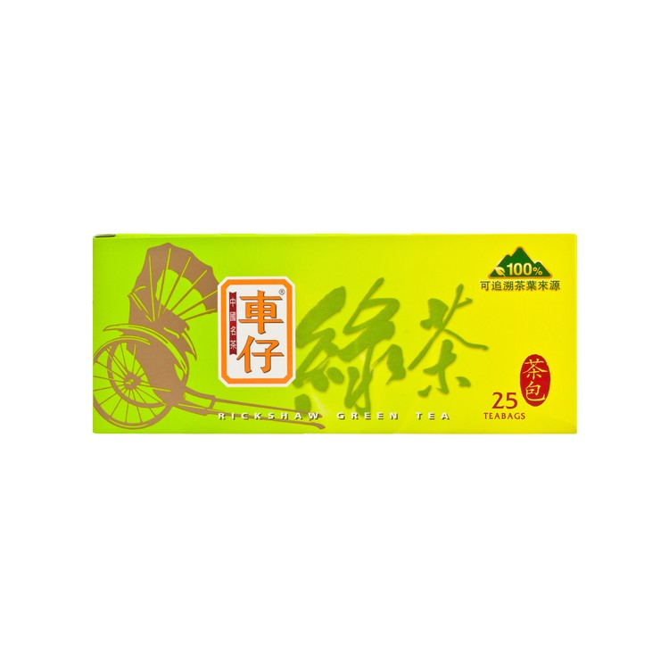 RICKSHAW - CHINESE TEABAGS-GREEN TEA - 2GX25