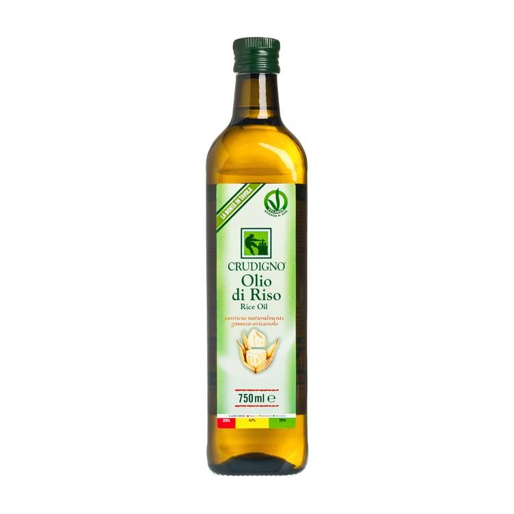 CRUDIGNO - ITALIAN RICE BRAN OIL - 750ML