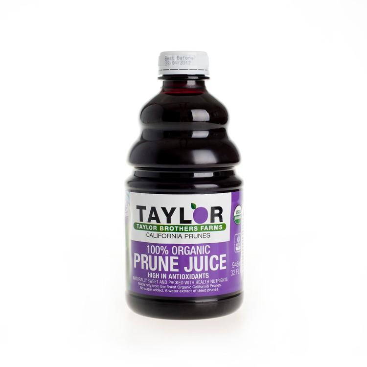 TAYLOR - 100% ORGANIC PRUNE JUICE - 946ML