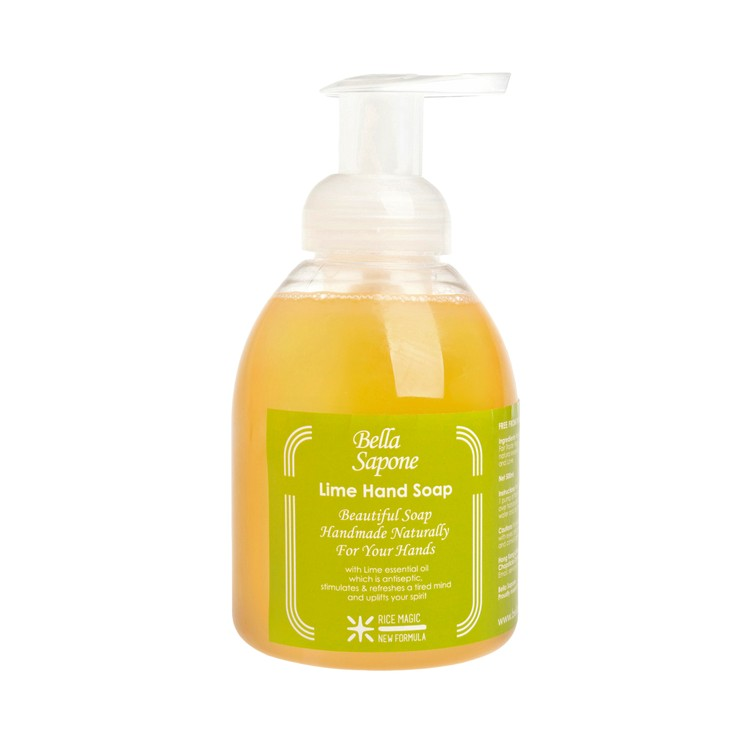 BELLA SAPONE - HAND SOAP BUBBLE PUMP-LIME - 500ML