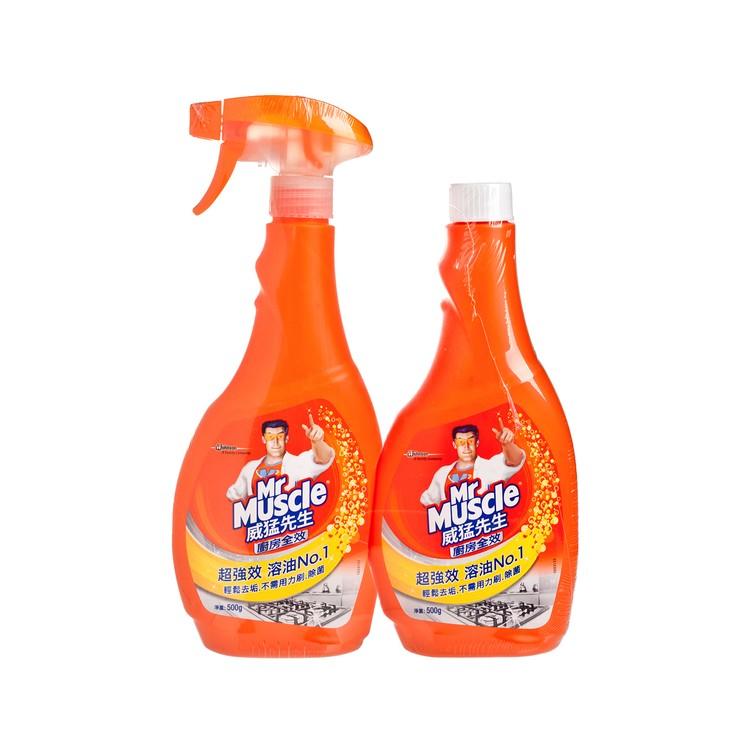 威猛先生 - 廚房全效清潔劑(噴裝及補充裝) - 500GX2