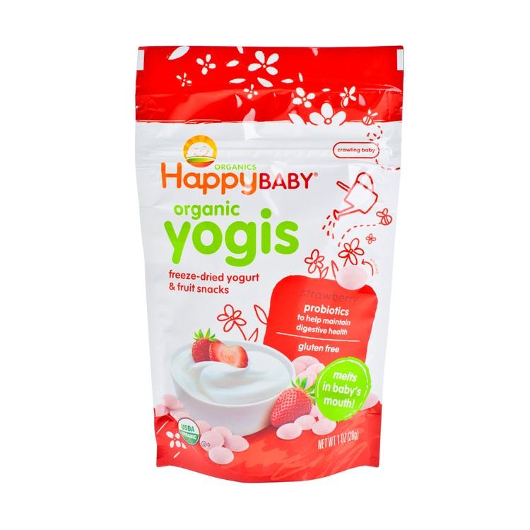 HAPPY BABY - ORGANIC YOGURT SNACK-STRAWBERRY - 1OZ