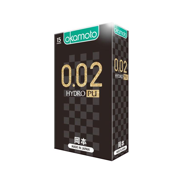 OKAMOTO - 0.02 HYDRO PU CONDOM - 15'S