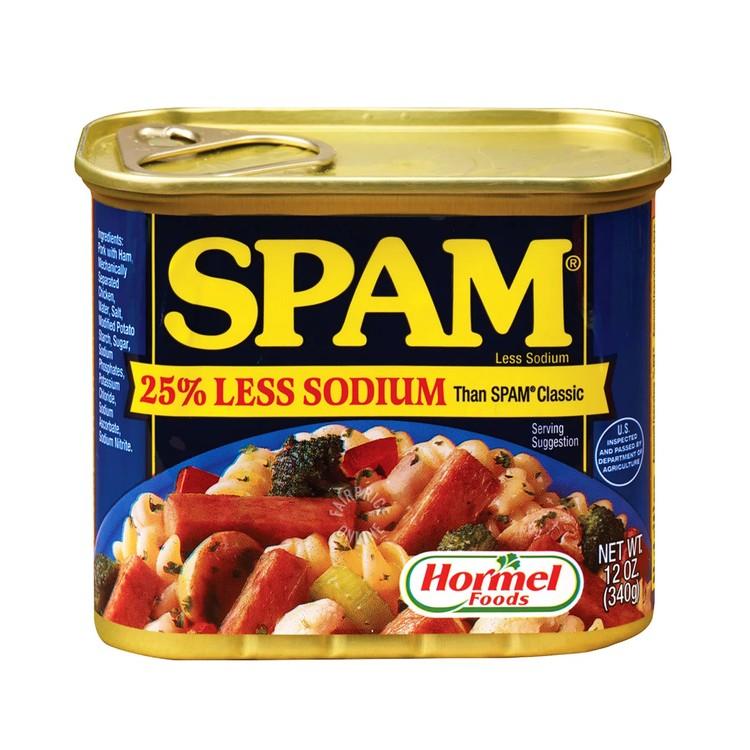 SPAM - LESS SALT LUNCHEON MEAT - 340G