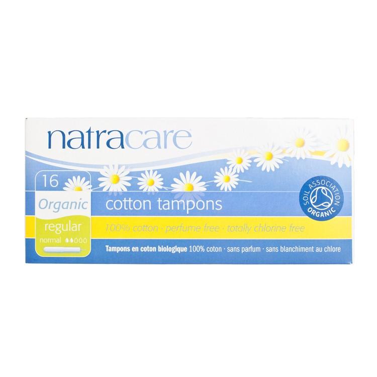 NATRACARE - 有機棉衛生棉條-導管標準型 - 16'S