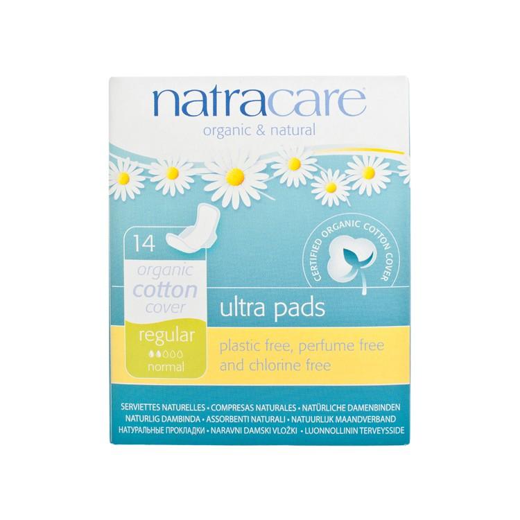 NATRACARE - 有機棉超薄護翼衛生巾-日用22CM(獨立包裝) - 14'S