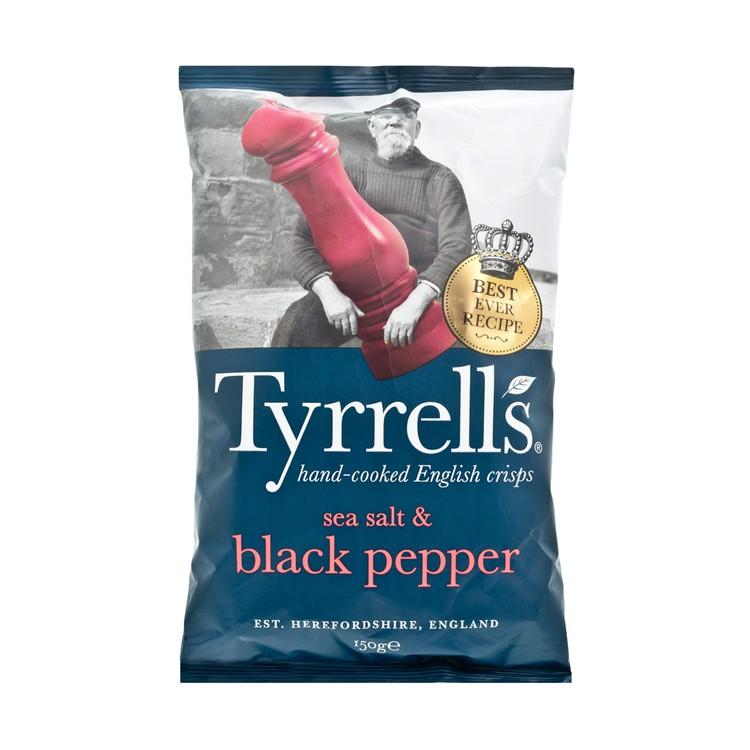 TYRRELLS - SEA SALT & BLACK PEPPER CRISPS - 150G