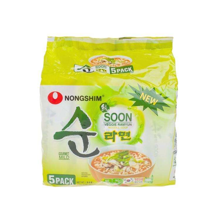 NONG SHIM - SOON VEGGIE NOODLE SOUP - 112GX5