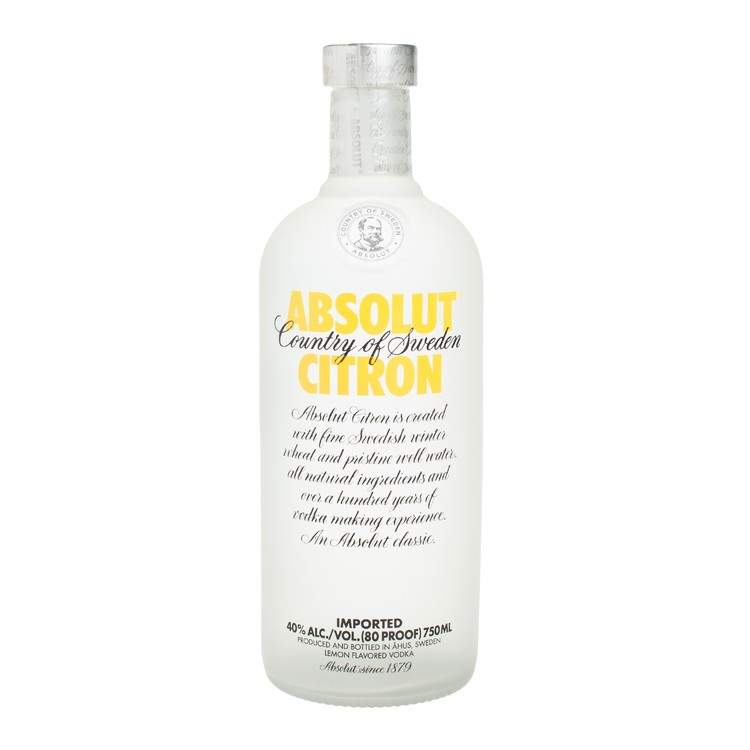 ABSOLUT  - VODKA-CITRON - 75CL