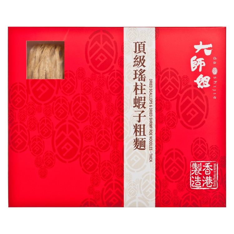 DASHIJIE - DRIED SCALLOP & DRIED SHRIMP ROE NOODLES (THICK) - 48GX6