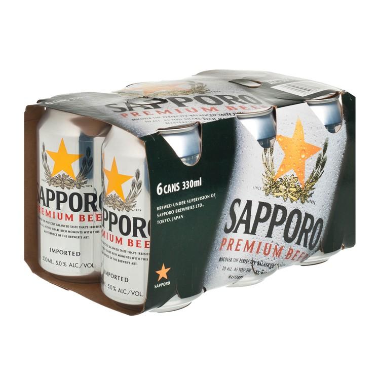 SAPPORO 七寶札幌 - 啤酒 - 330MLX6
