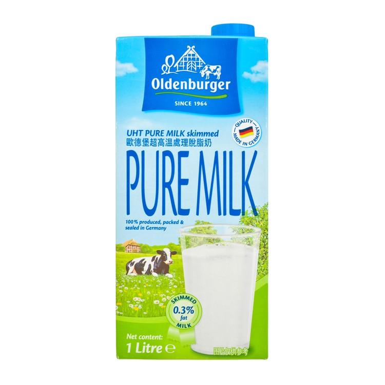 德國歐德堡 - 脫脂牛奶 - 1L