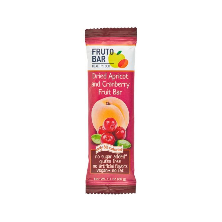 FRUTO BAR - 乾杏蔓越莓果條 - 30G