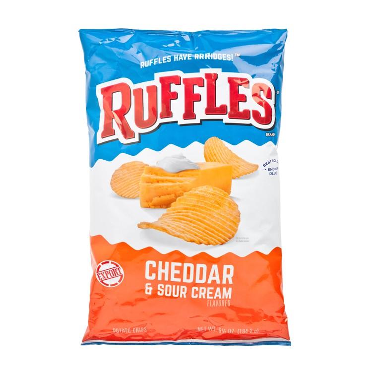 RUFFLES - CHEDDAR & SOUR CREAM POTATO CHIPS - 184.2G