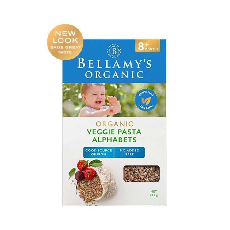 BELLAMY'S ORGANIC - ORGANIC VEGIE ALPHA PASTA - 200G