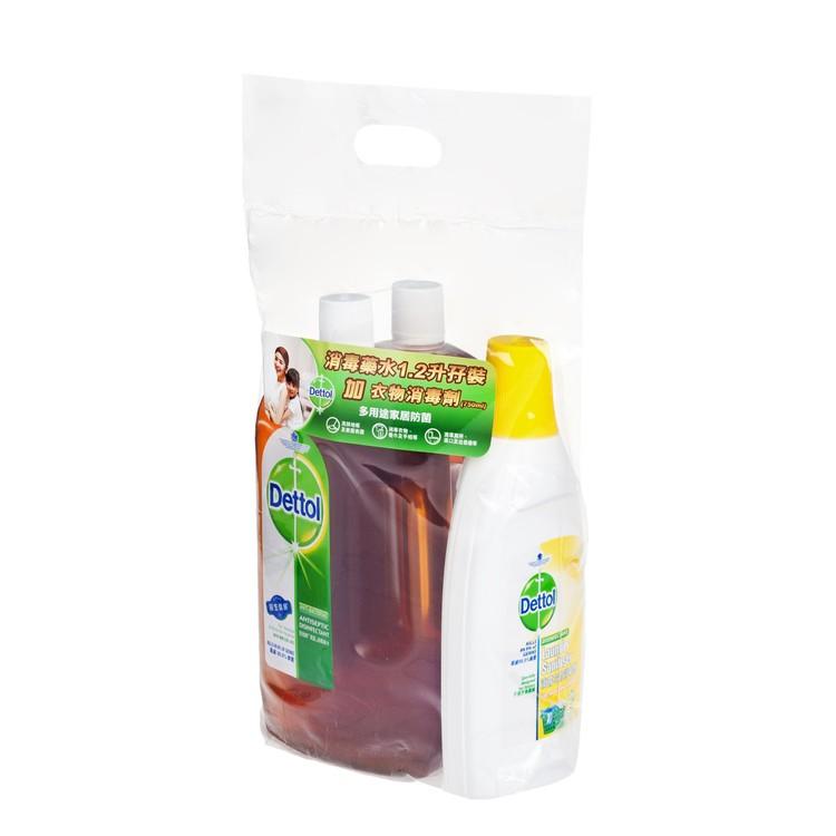 滴露 - 消毒藥水(孖裝)送衣物消毒劑 - 1.2LX2+750ML