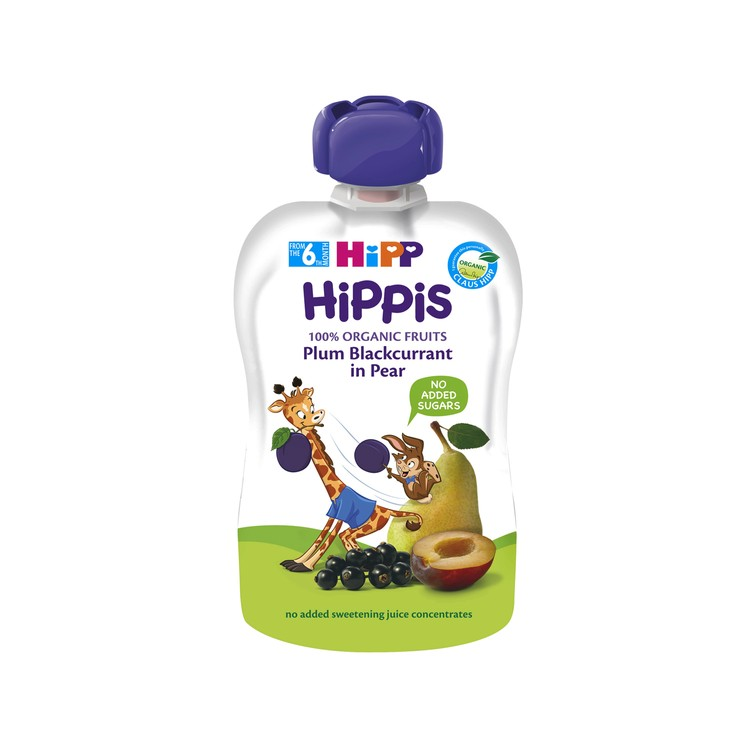 HIPP - ORGANIC PLUM-BLACKCURRANT IN PEAR  - 100G