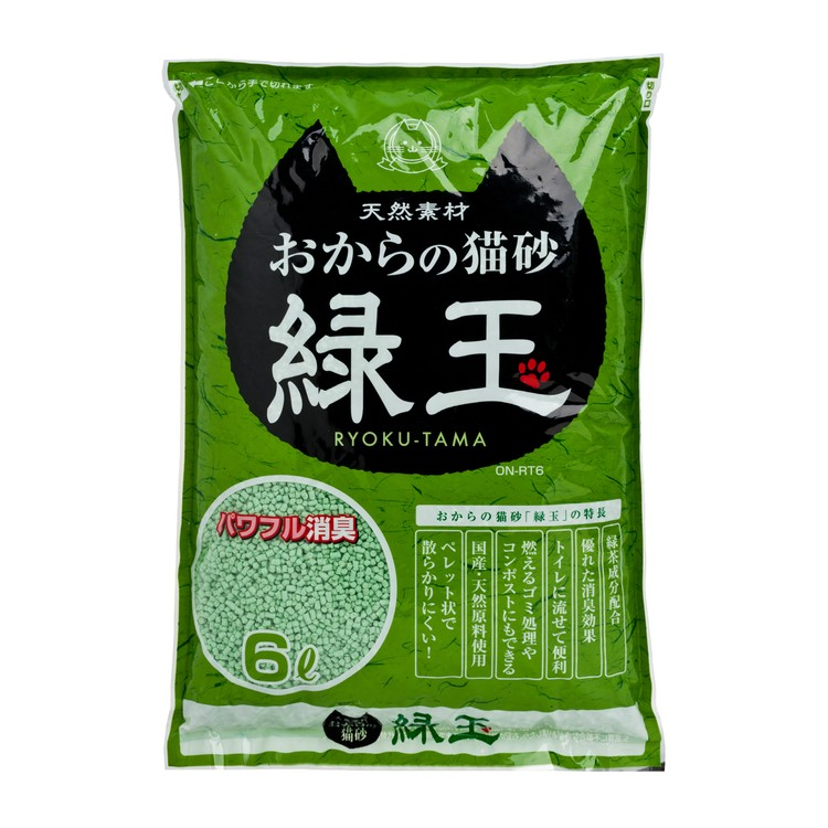 HITACHI - 豆腐貓砂 - 綠玉綠茶 - 6L