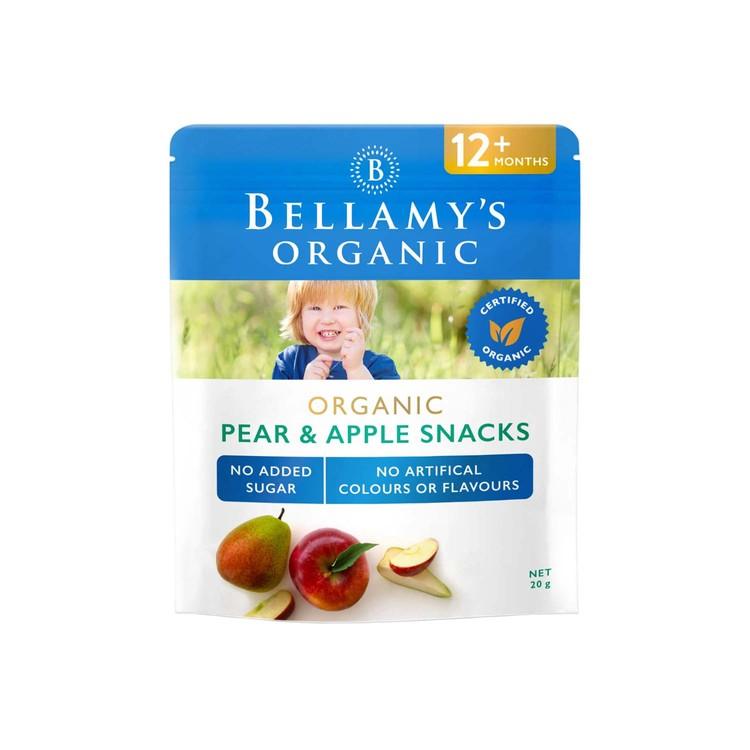BELLAMY'S ORGANIC - ORGANIC PEAR & APPLE SNACKS - 20G