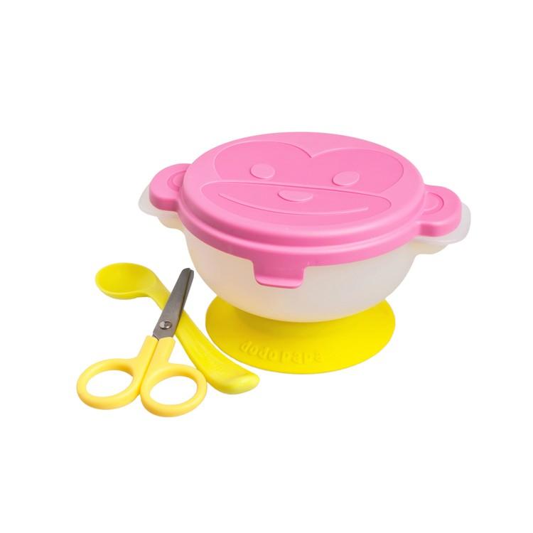 爸爸製造 - 出去碗便携餐具套裝 - 粉紅色 - PC