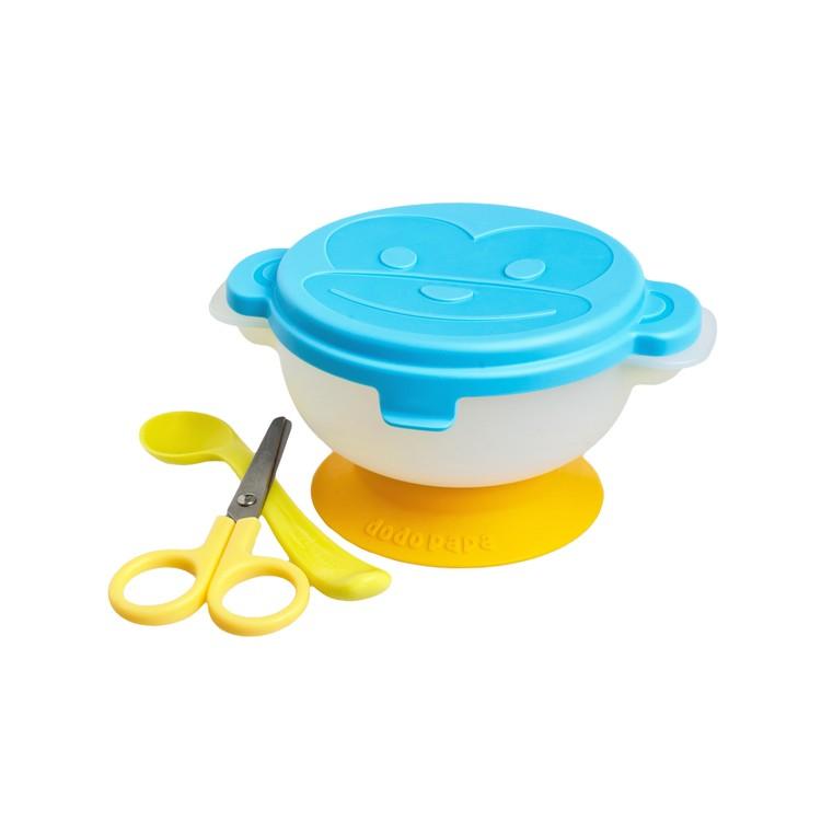 爸爸製造 - 出去碗便携餐具套裝 - 藍色 - PC