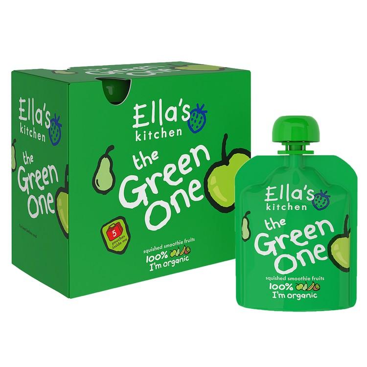ELLA'S KITCHEN - THE GREEN ONE MULTI SMOOTHIE FRUIT PACKS - 90GX5