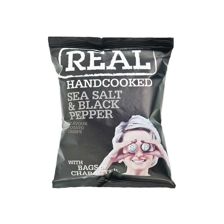 REAL HAND COOKED CRISPS - SEA SALT AND BLACK PEPPER POTATO CHIPS - 35G