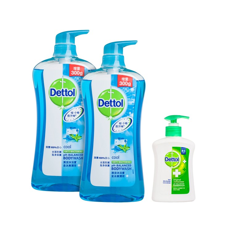 DETTOL - BODY WASH-COOL(TWINPACK WITH PREMIUM) - SET